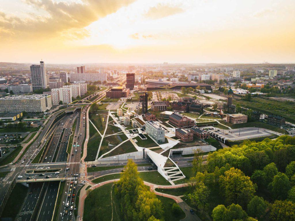 Katowice panorama miasta