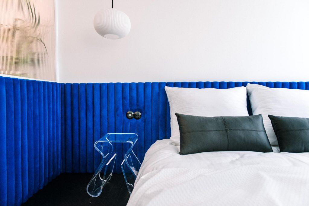 Pastel Blue łóżko podwójne
