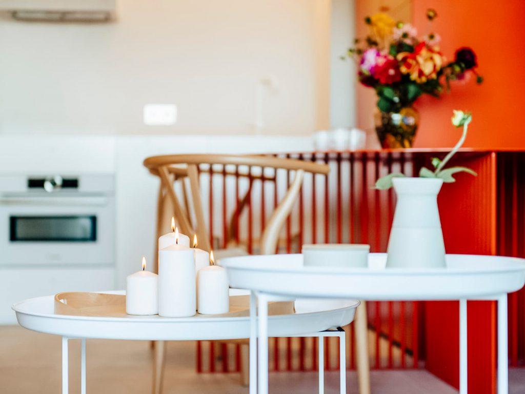 Concorde świeczki w salonie